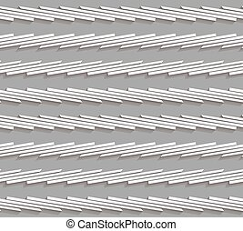 Geometrical pattern with gray horizontal striped lines -...