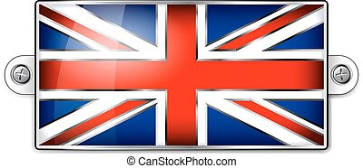 Enamel British Union Jack Flag