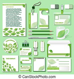 illustration design template for business objects from an...