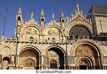 The Patriarchal Cathedral Basilica of Saint Mark, Venice,...
