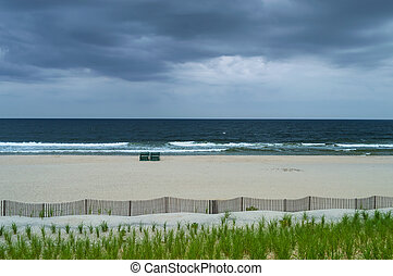 Secluded Beach - An empty beach on an overcast Summer day on...