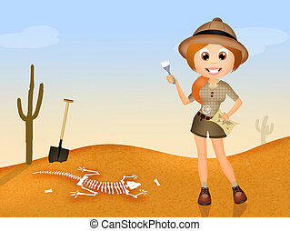 archaeologist - illustration of archaeologist