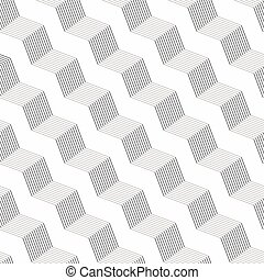 Monochrome pattern with gray striped diagonal braids with...