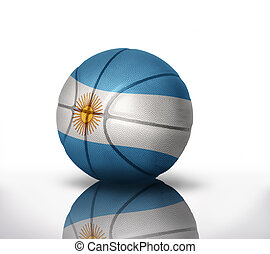 argentinean basketball - basketball ball with the national...