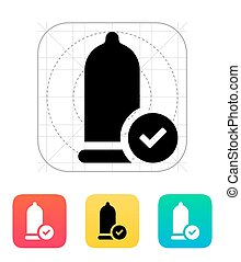Condom Check icon Vector illustration