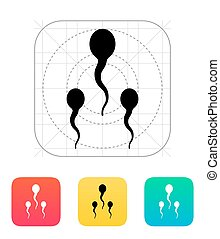 Spermatozoids icon. Vector illustration.