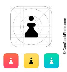 Chess Pawn icon Vector illustration