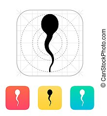 Spermatozoid icon. Vector illustration.
