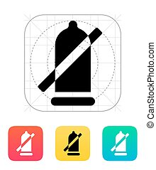 Condom ban icon. Vector illustration.