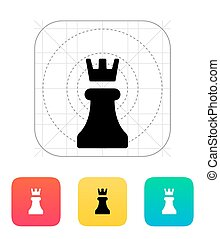Chess Rook icon. Vector illustration.