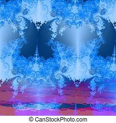 Fantasy butterfly background - Fantasy decorative fractal...