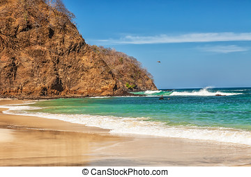 Costa Rica - Scenic view of the beach along the Golfo de...
