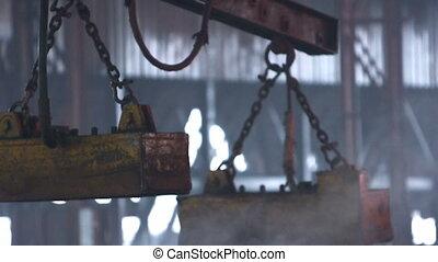 Industrial machine for steel blocks