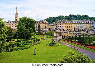Park view, Bath, England - View over a park in Bath, England