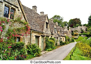 Quiant Cotswold village, England - Houses of Arlington Row...