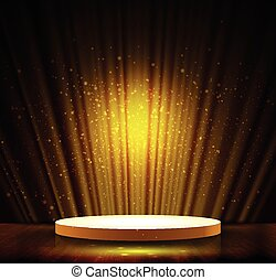 dark gold scene - spotlight effect gold scene background