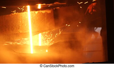 Melting of the metal at the factory