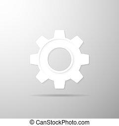 Gearwheel icon. Vector