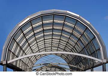 arc steel and glass roof