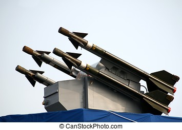 Missile System - A surface-to-air missile battery mounted on...