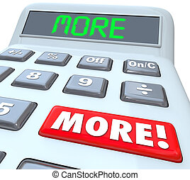 More Word Calculator Adding Additional Bonus Money Income Budget