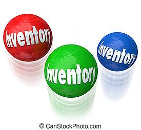 inventario, malabarismo, pelotas, difícil, Trabajo,...