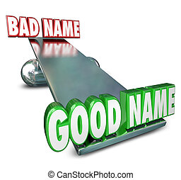 Good Vs Bad Name Weighing Options Best Brand Identity New...