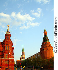 towers of kremlin on Red Square