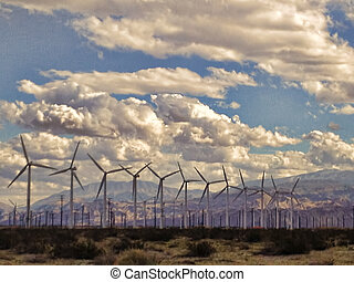 Desert Windmills - Windpower in the California desert...