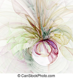 Gauzy Flow Abstract - Abstract Background - Colorful,...