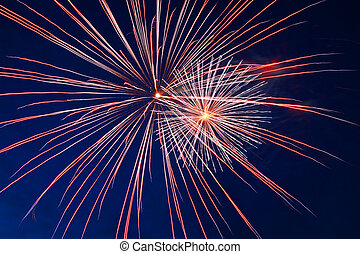 celebration fireworks in the night