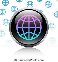 Button-World-Globe-Earth-Computer button-Web button-Internet...