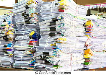Stack of business papers