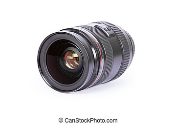 isolated lens on a white background