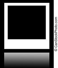 Isolated Polaroid Photo Frame on black background