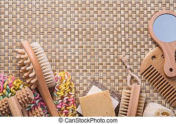 浴室, 古典である,  copyspa, 枝編み細工, 付属品, 背景