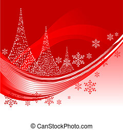Christmas background - Abstract vector illustration of a...