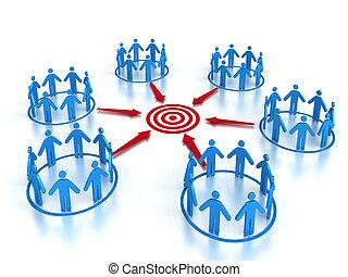 Target Market  - Team & teamwork concept image