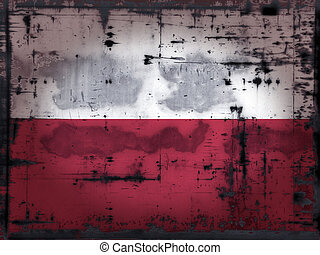 grunge poland - grunge background - poland flag -...
