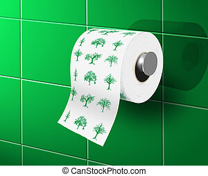eco toilet paper - toilette paper with ecological theme