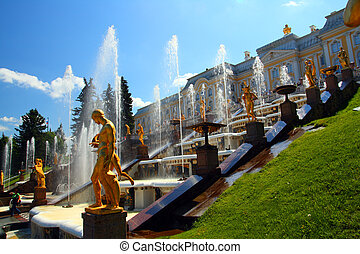 petergof park in Saint Petersburg Russia - famous petergof...