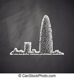 Barcelona skyline icon
