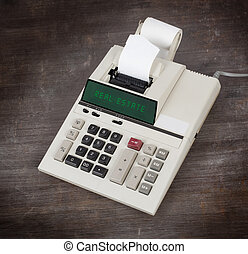Old calculator - real estate
