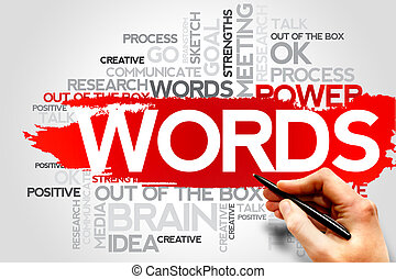 WORDS word cloud, business concept