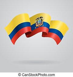 Ecuadorian waving Flag. Vector illustration Eps 8.