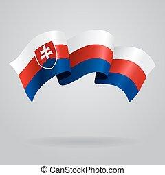 Slovak waving Flag. Vector illustration Eps 8.