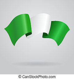 Nigerian waving Flag Vector illustration Eps 8