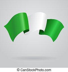 Nigerian waving Flag. Vector illustration Eps 8.