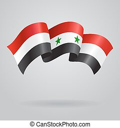 Syrian waving Flag Vector illustration Eps 8