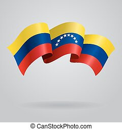 Venezuelan waving Flag. Vector illustration Eps 8.